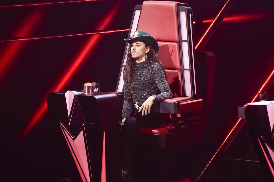 "Michał Szpak na planie ""The Voice of Poland 10"""