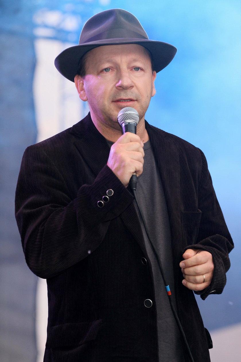 Zbigniew Zamachowski w kapeluszu w maju 2011 roku