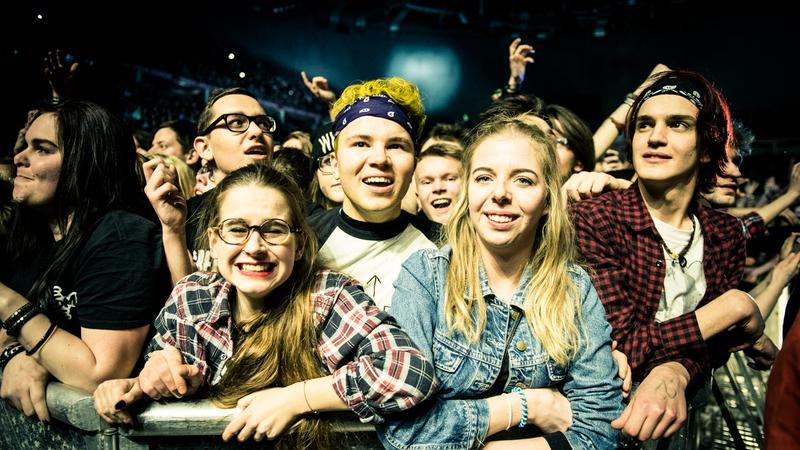 Koncert Green Day w Krakowie - zdjęcia publiczności
