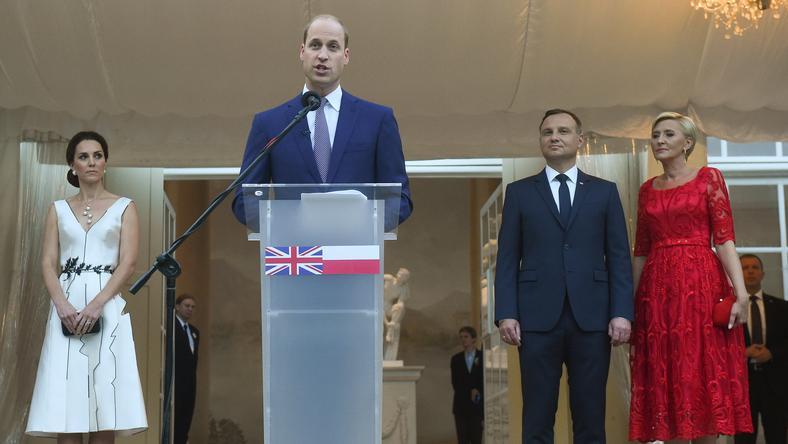 W Łazienkach Królewskich przyjęcie na cześć brytyjskiej królowej