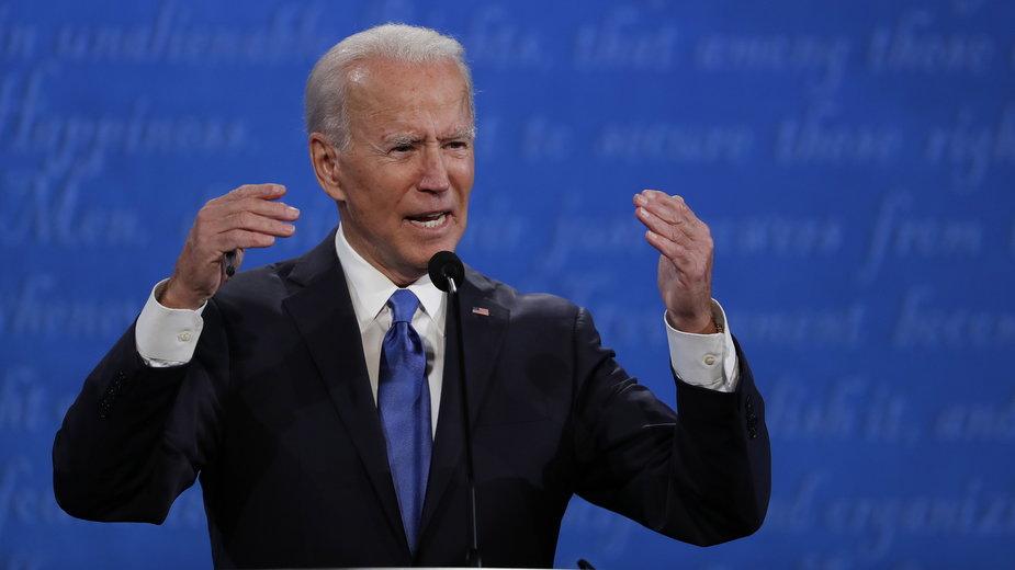 Joe Biden, kandydat Demokratów na urząd prezydenta USA, podczas debaty w Nashville w stanie Tennessee