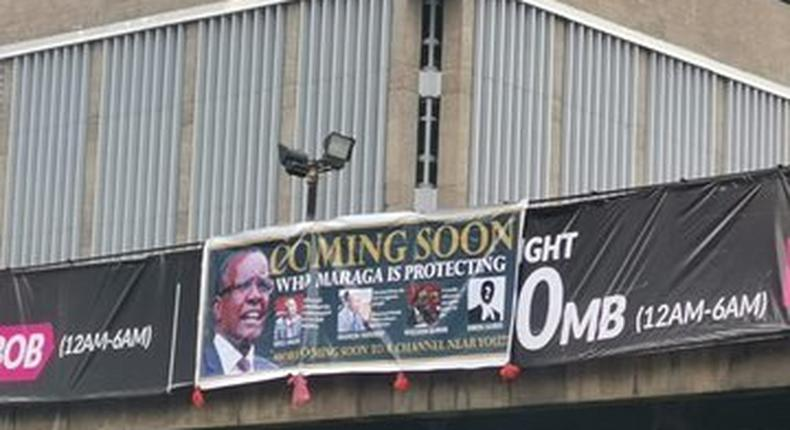 Banners threatening to expose Maraga erected on various roads