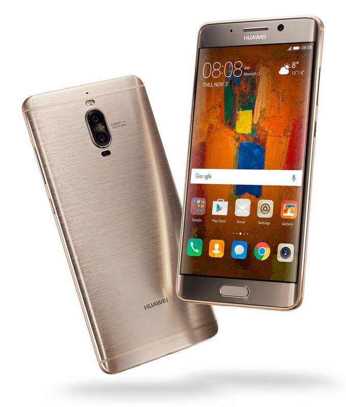 Huawei Mate 9 Pro - wizualnie od podstawowej wersji różni się detalami - ma czytnik linii papilarnych z przodu i zagięty na bokach ekran