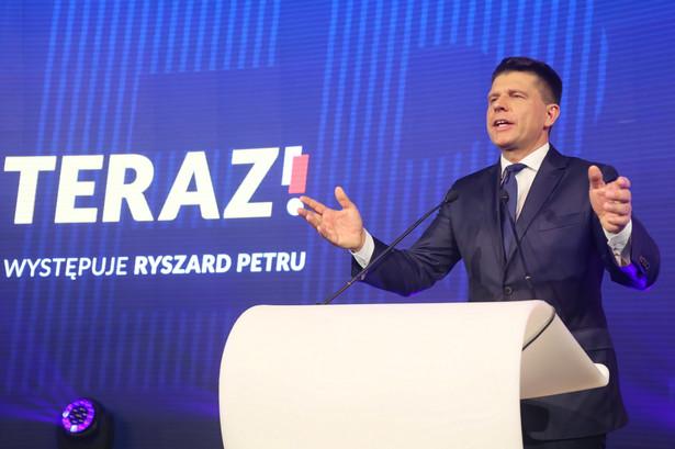 Ryszard Petru podczas konwencji partii Teraz! w Warszawie.