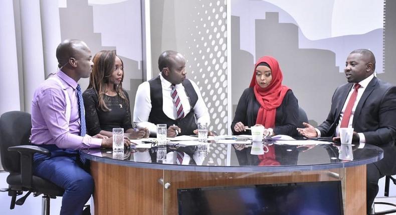 The News Gang. Joe Ageyo, Yvonne Okwara, Linus Kaikai, Jamila Mohamed and Francis Gachuri