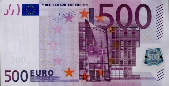 Novčanica od 500 evra ostaje zakonito sredstvo plaćanja
