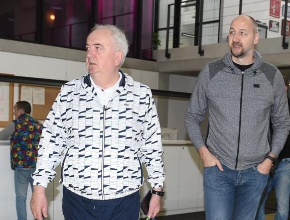 Božidar Maljković i Dino Rađa prilikom posete