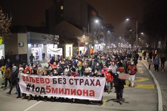 Protest u Valjevu