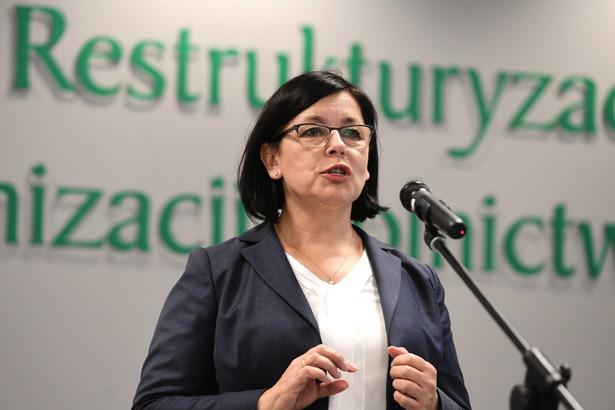 Prezes Agencji Restrukturyzacji i Modernizacji Rolnictwa Maria Fajger.