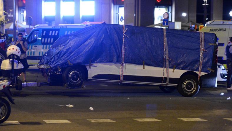 Furgonetka, której użyto do czwartkowego ataku w Barcelonie