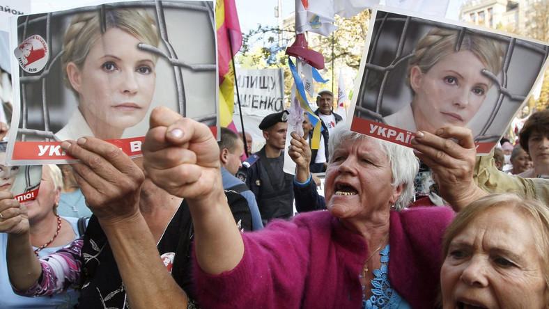 Zwolennicy Julii Tymoszenko przed kjowskim sądem