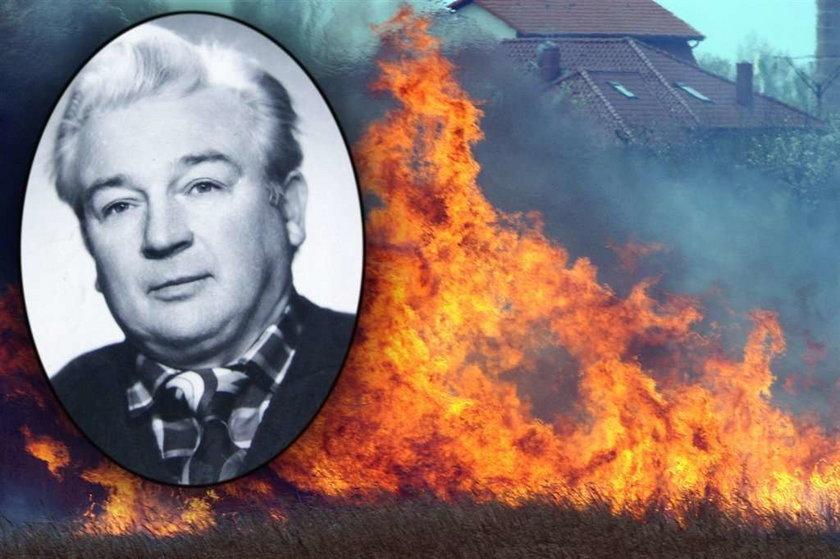 Spłonął, bo chciał mieć ogródek!