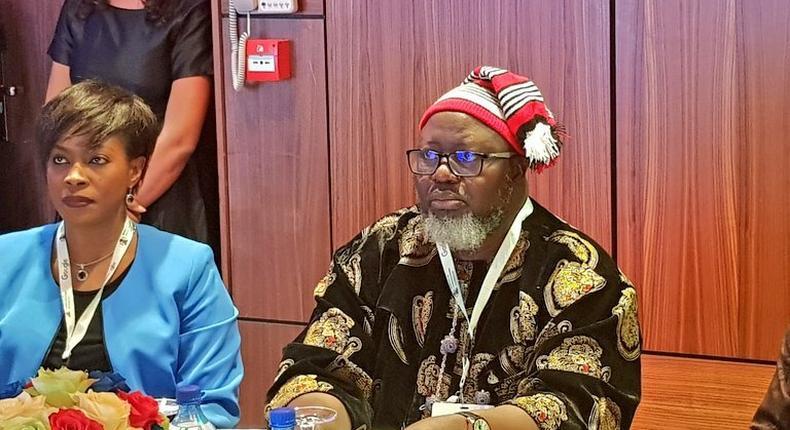 Adebayo Shittu, Nigeria's Communication minister, Google Nigeria CEO at the one-day stakeholders workshop on the Role of Public Internet Access for Economic Development (Twitter/HMAdebayoShittu)