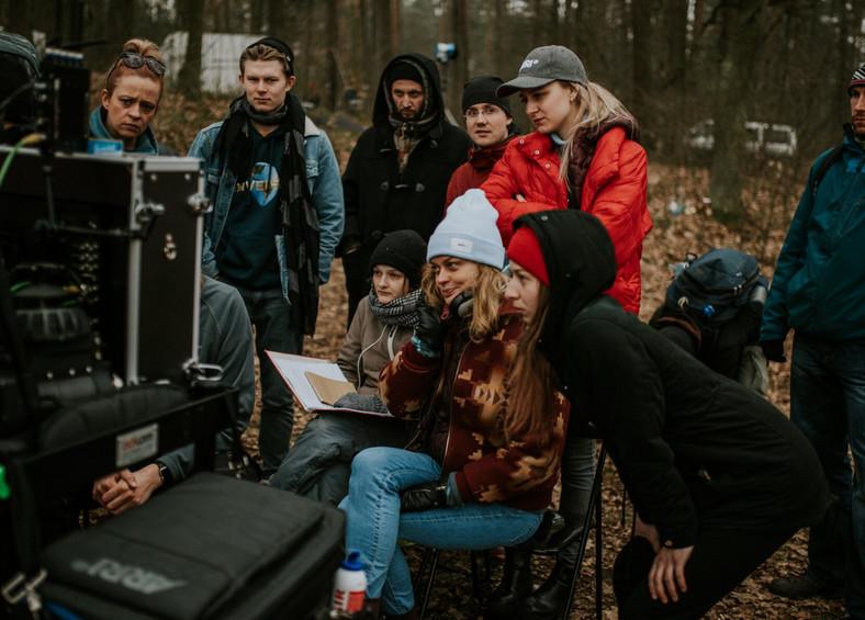 "Kalina Alabrudzińska na planie filmu ""Nic nie ginie"", fot. Agencja JUMP"