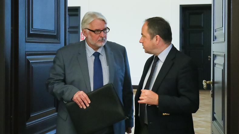 Witold Waszczykowski i Konrad Szymański