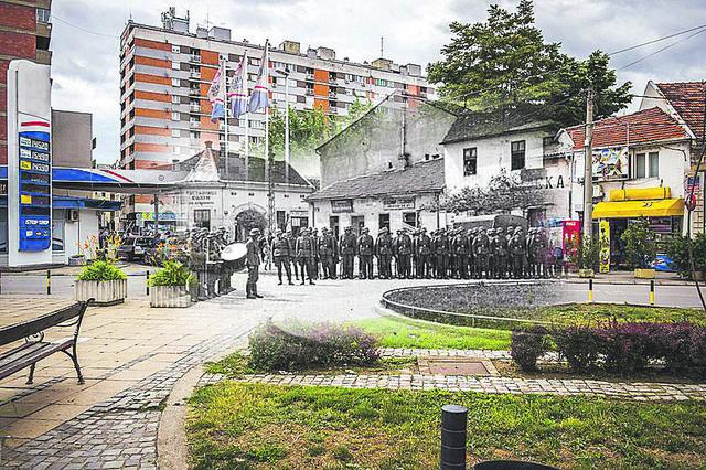 """Trg Pavla Stojkovića iz kolekcija """"Senke starog Niša"""""""