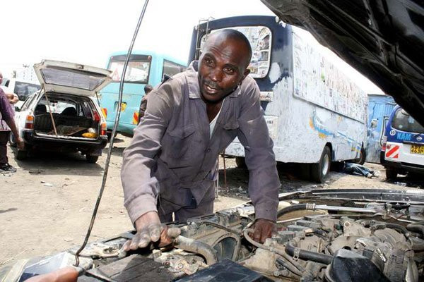 Tens of thousands of Kenyans are engaged in the used parts trade, mainly based in Nairobi's Kirinyaga Road, Grogon and industrial areas. (nation)