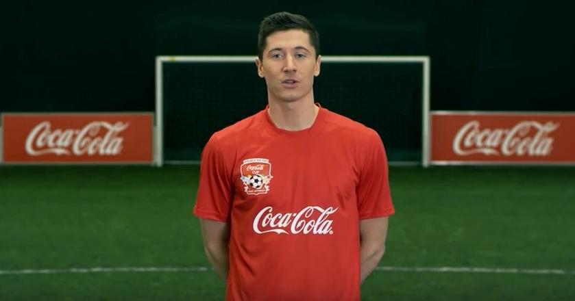 Robert Lewandowski był m.in. twarzą turnieju piłkarskiego dla dzieci Coca-Cola Cup