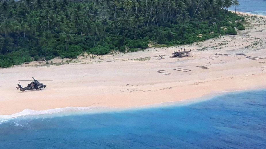Rozbitkowie odnalezieni na bezludnej wyspie Pikelot na Pacyfiku