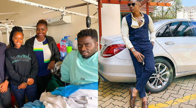 Otile Brown speaks on Yaya Centre accident, buys the victim new Motorbike (Photos)