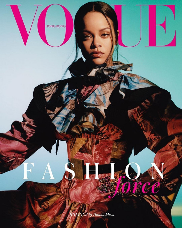 Rihanna looks incredible on the Vogue Hong Kong September Issue cover [Credit: Lipstick Alley]