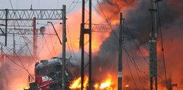 Pożar pociągu pod Częstochową