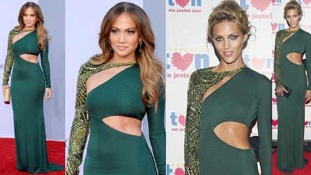 Jennifer Lopez i Anja Rubik
