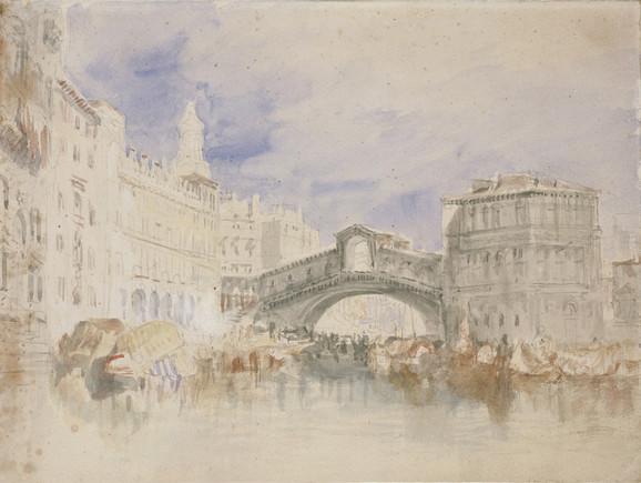Most Rialto, Venecija, oko 1819-1835.
