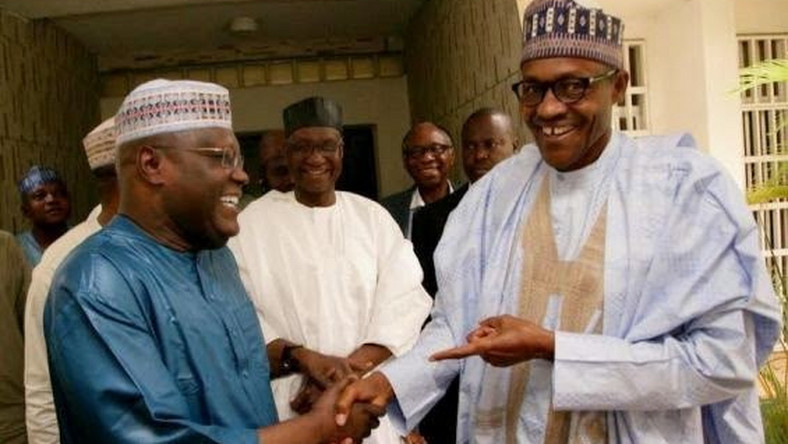 One of Muhammadu Buhari (right) and Atiku Abubakar (left) is expected to win the February 16 presidential election