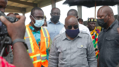 President Akufo-Addo inspects IRECOP project in Oti Region