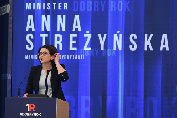 Minister cyfryzacji Anna Streżyńska przedstawia sprawozdanie z pracy swojego resortu.