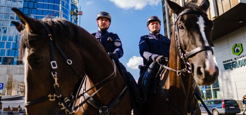Policja na koniach w centrum Katowic