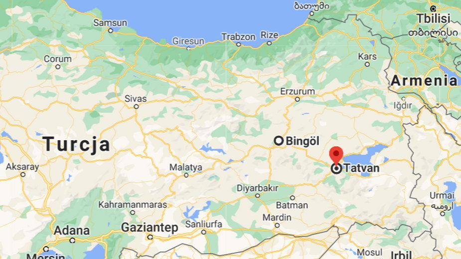 Śmigłowiec leciał z miasta Bingöl do Tatvan