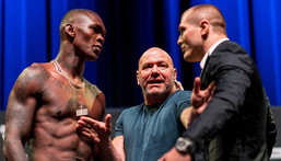 Israel Adesanya and Marvin Vettori got heated during their pre-fight press conference (Instagram/UFC)