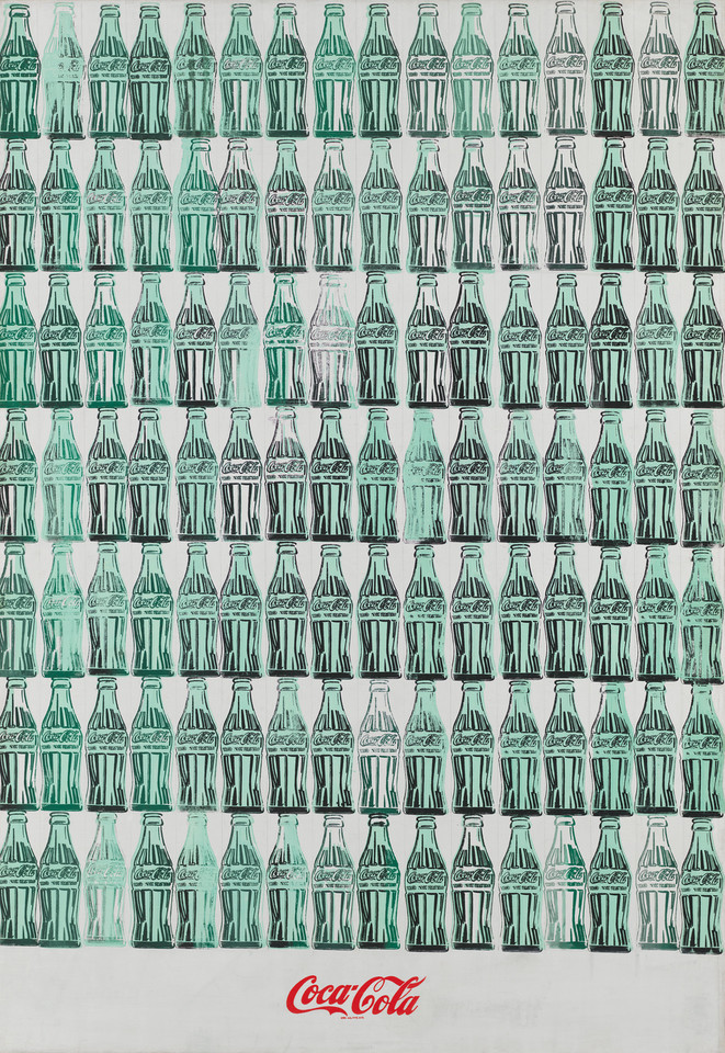"Andy Warhol - ""Green Coca-Cola Bottles"" (1962)"