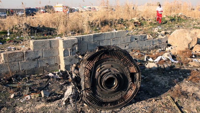 Szczątki zestrzelonego ukraińskiego samolotu