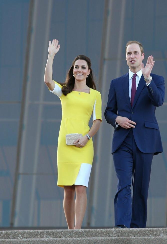 Vojvotkinja i vojvoda od Kembridža 2014. u službenoj poseti Australiji: Kejt Midlton u Roksandinoj haljini