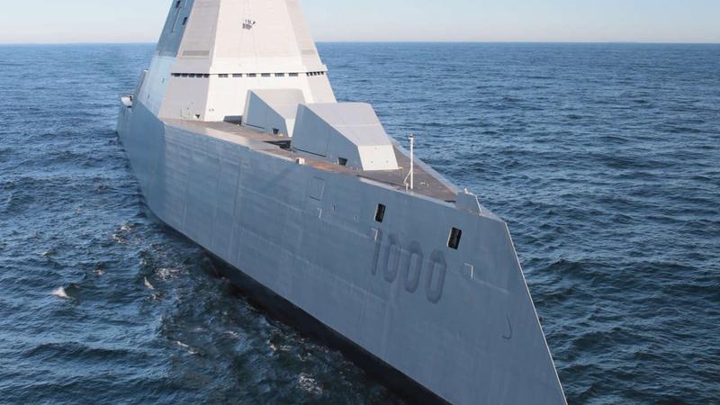 Elektromagnetyczne działo na nowym niszczycielu marynarki