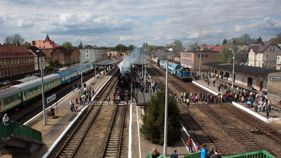 Stacja kolejowa Wolsztyn fot. Petroniusz / wikimedia