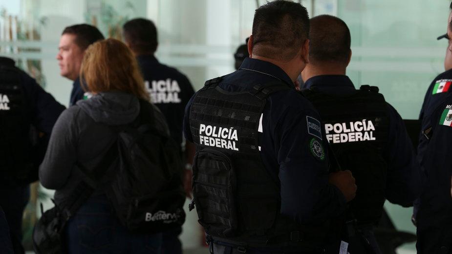 Meksykańska policja. Zdjęcie przykładowe