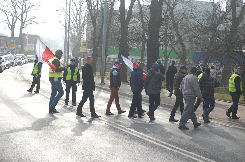 Protest rolników w Głogowie
