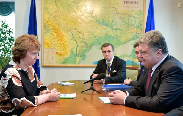 Spotkanie Poroszenko-Ashton w Mińsku. Fot. EPA/MYKOLA LAZARENKO