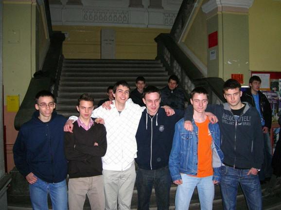 Šestorica najboljih (s leva na desno): Teodor von Burg, Luka Milićević, Stevan Gajović, Dušan Milijančević, Rade Špegar i Mihajlo Cekić