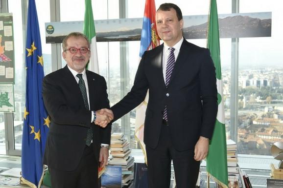 Predsednik Vlade Vojvodine Igor Mirović i predsednik italijanske regije Lombardija Roberto Maroni