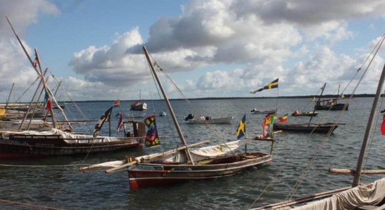 Boats at the Lamu Island.