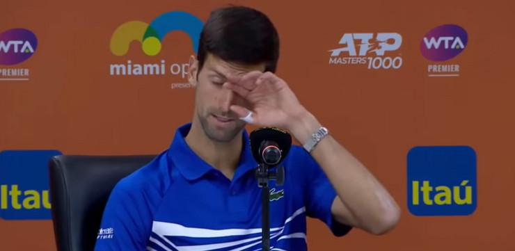 Novak Đoković pres konferencija
