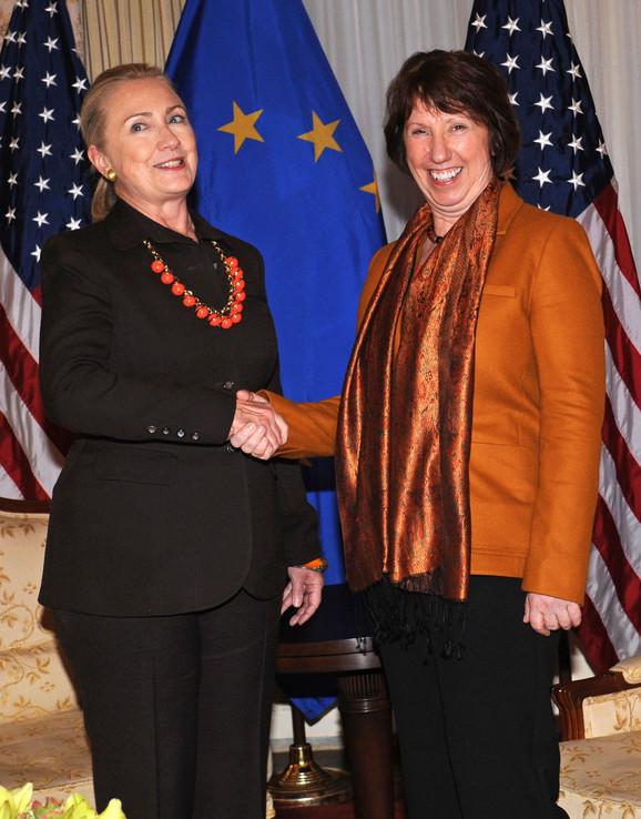 Hilari Klinton i Ketrin Ešton juče u Njujorku