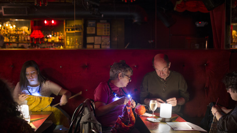 Trading the Noisy Gay Bar Scene for the Knitting Circle