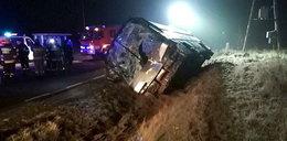 Tragiczny wypadek autokaru. Jedna osoba nie żyje, dwie ranne