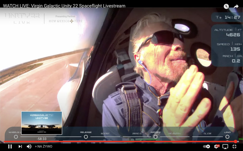 Lot Richarda Bransona w kosmos